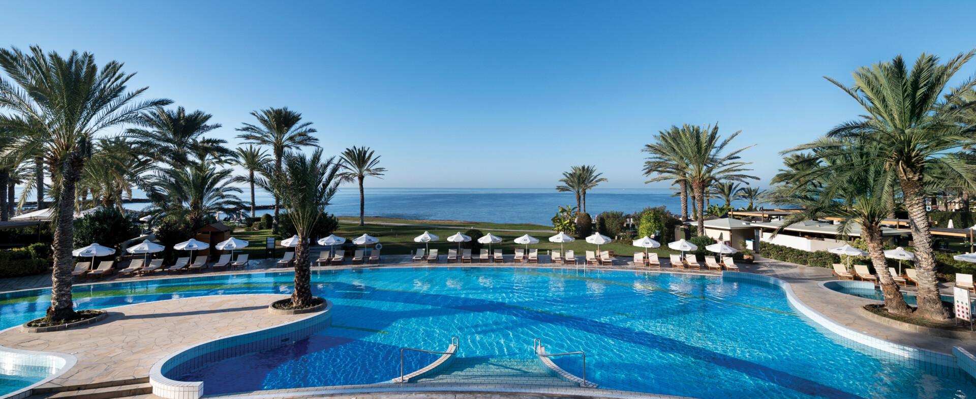 3 ATHENA BEACH HOTEL POOL AND SEA VIEW
